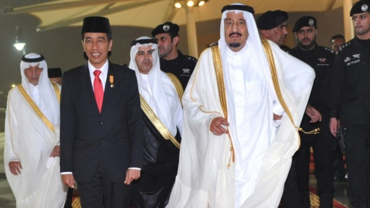 Jokowi bertemu Raja Salman di Arab Saudi