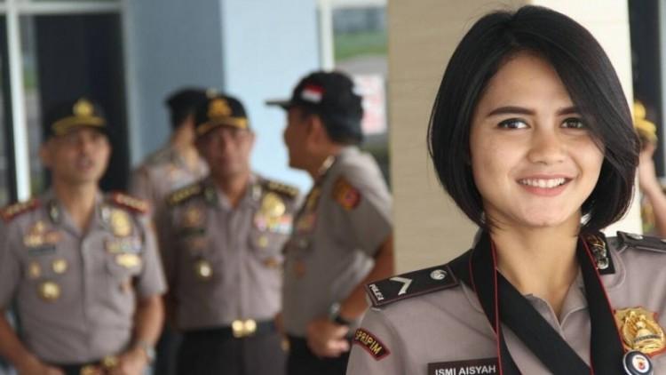 Kecantikan Bripda Ismi kini jadi perbincangan netizen