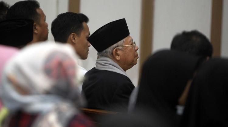 Ketua MUI Ma'ruf Amin di sidang kasus Ahok
