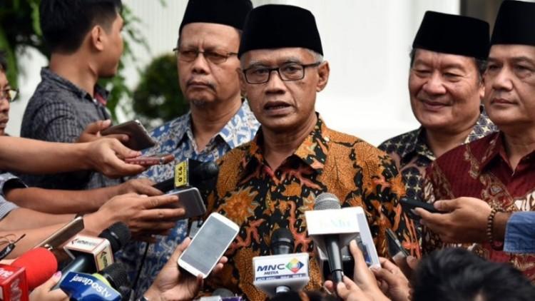 Ketum PP Muhammadiyah Haedar Nashir di Istana Merdeka