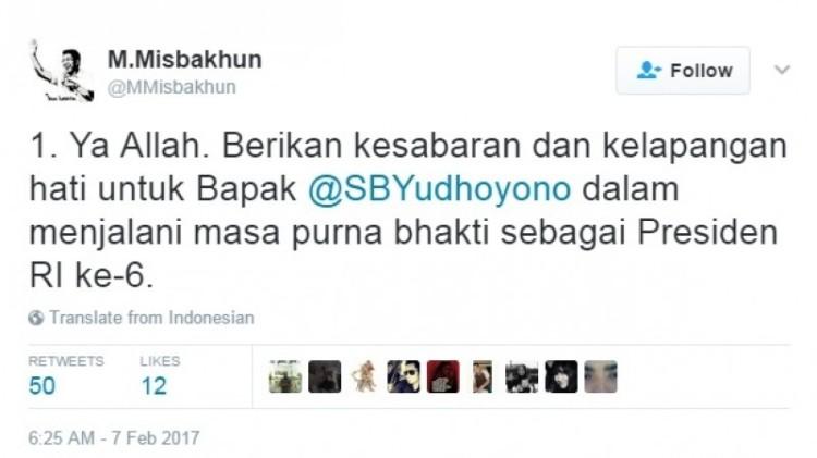 Kicauan Misbakhun soal curhat SBY