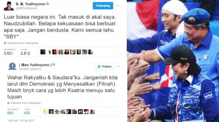 Kicauan SBY-Ibas menanggapi Antasari