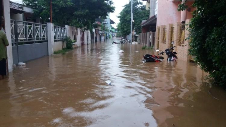 Kondisi banjir di Kp. Melayu kecil 1 Bukit Duri