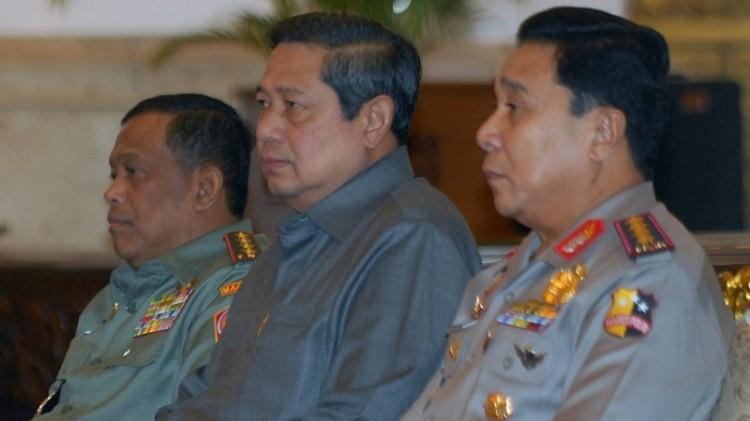 Mantan Kapolri Bambang Hendarso Danuri bersama SBY