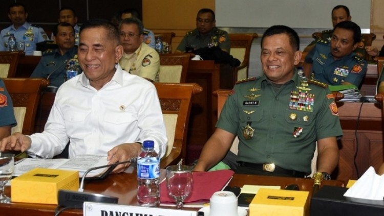 Menhan Ryamizard Ryacudu dan Panglima TNI Jenderal Gatot Nurmantyo