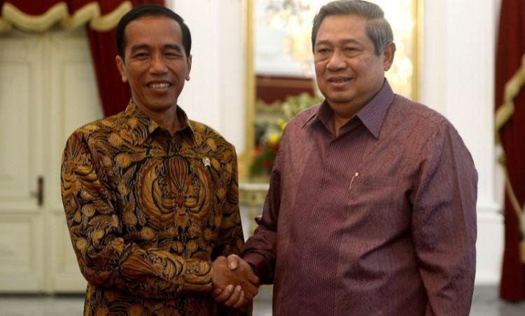 Pertemuan Presiden Jokowi dan SBY di Istana Merdeka pada 8 Desember 2014