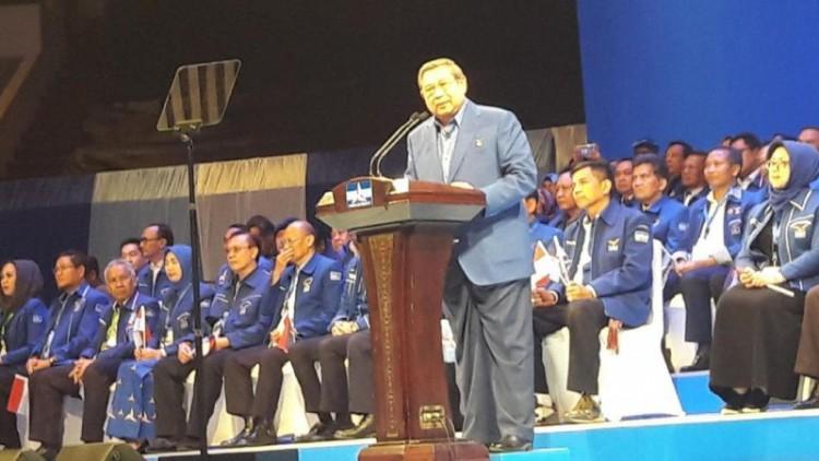 Pidato politik SBY di Dies Natalis Demokrat