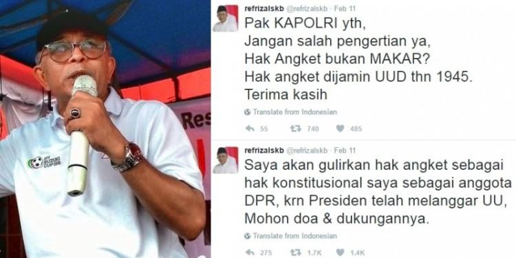 Politisi PKS, Refrizal Sikumbang