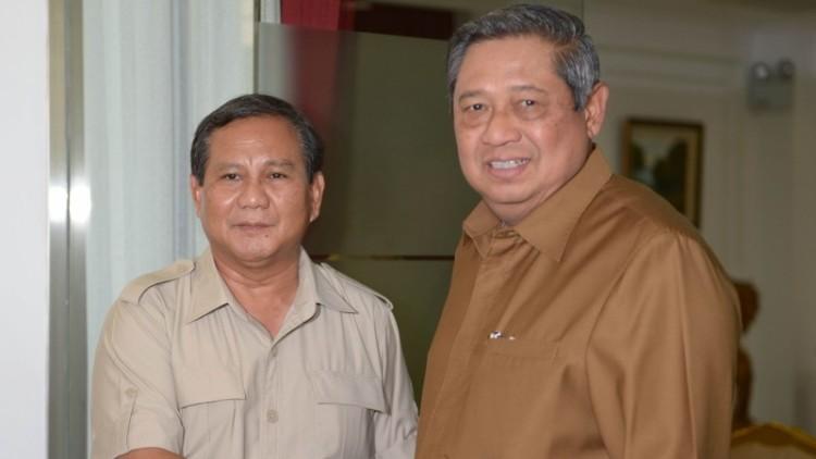 Prabowo saat bertemu SBY
