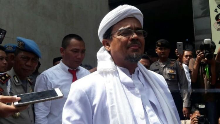 Rizieq Shihab memenuhi panggilan penyidik Polda Metro Jaya