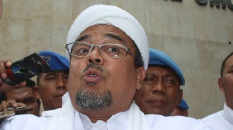 Rizieq Shihab saat berada di Polda Metro Jaya