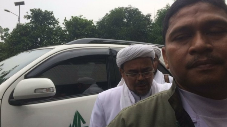 Rizieq Shihab tiba di gedung Kementan