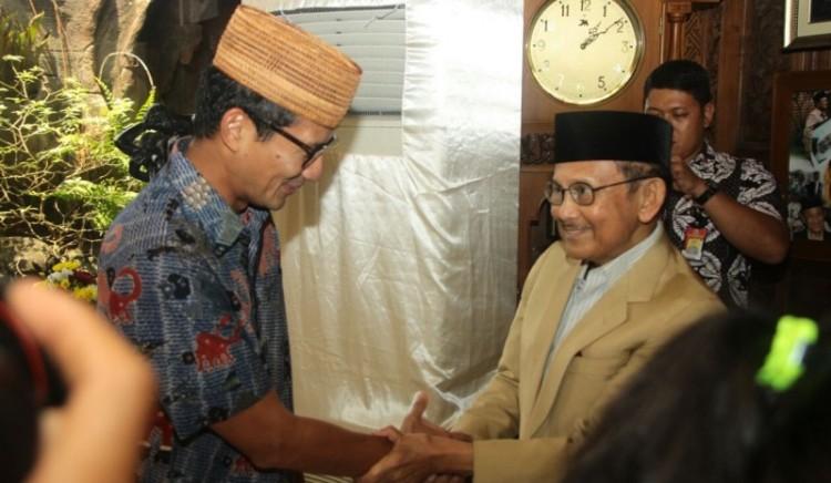 Sandiaga Uno bersama BJ Habibie