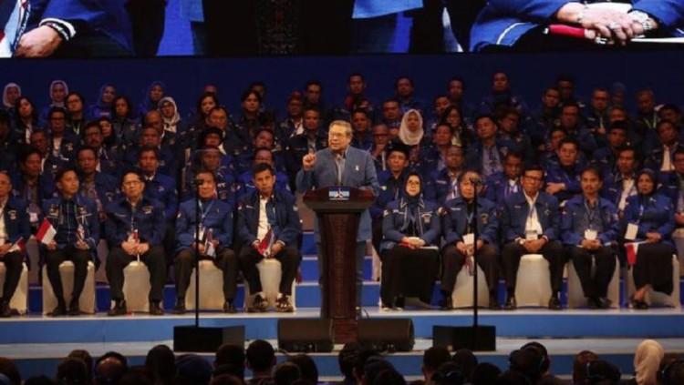 SBY berpidato dalam acara Dies Natalis Partai Demokrat