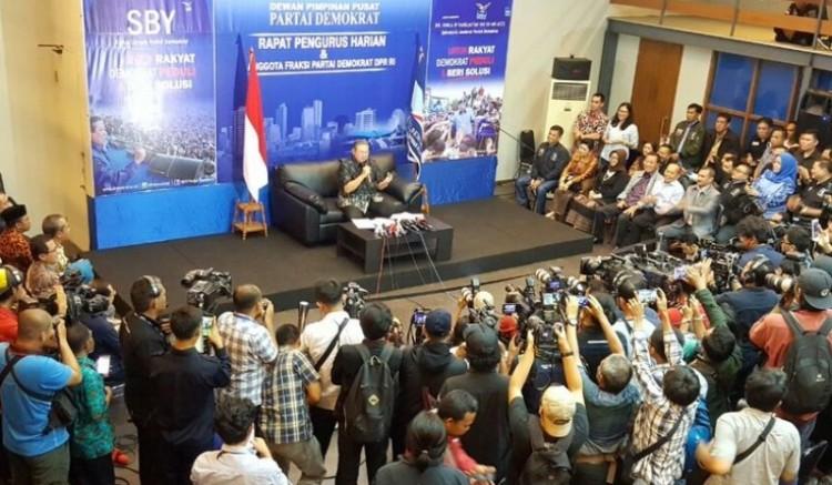 SBY gelar jumpa pers di Wisma Proklamasi