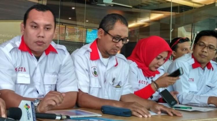 Sejumlah pengurus ACTA gelar konferensi pers di Menteng
