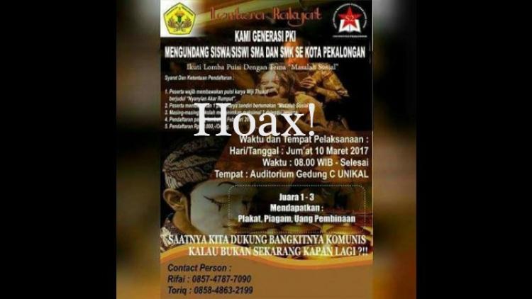 Undangan generasi PKI yang hoax
