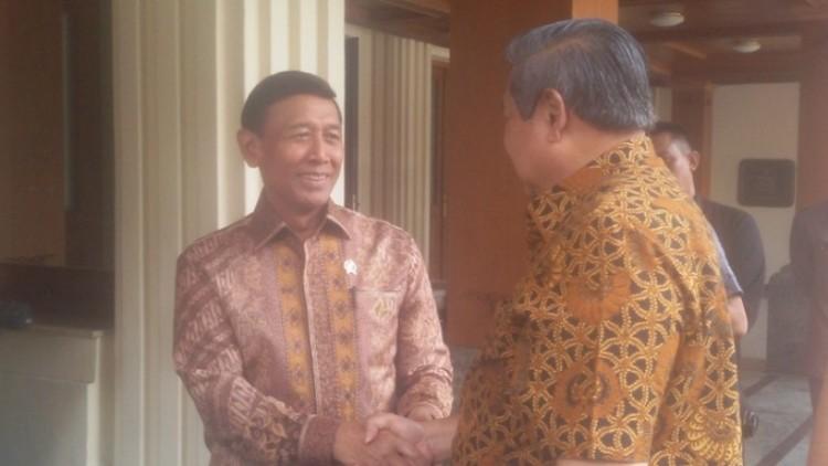 Wiranto dan SBY saat bertemu di Kantor Menkopolhukam