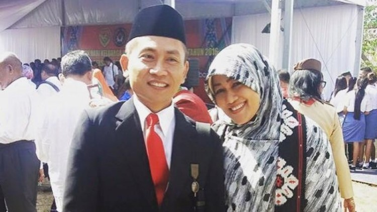 Yoyok Riyo Sudibyo dan istri