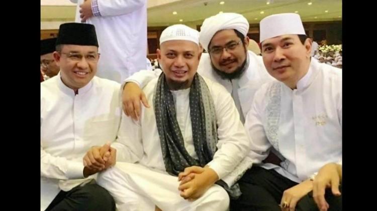 Anies Baswedan bersama Arifin Ilham dan Tommy Soeharto