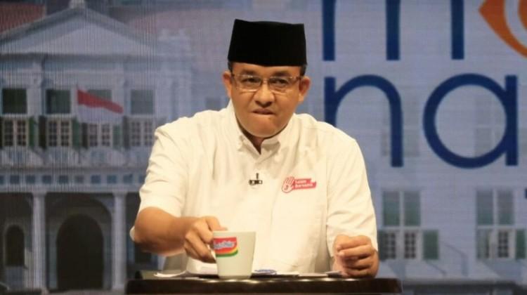 Ekspresi emosonal Anies Baswedan saat debat di Mata Najwa