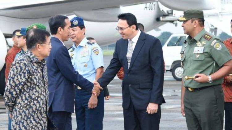 Jokowi dan Ahok di Bandara Halim Perdanakusuma