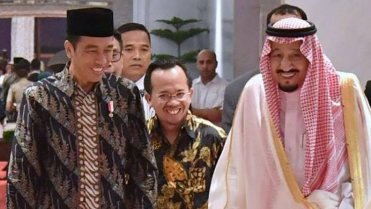 Jokowi dan Raja Salman tertawa