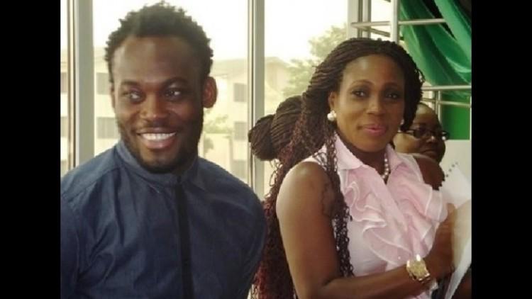 Michael Essien dan istrinya, Akosua Puni