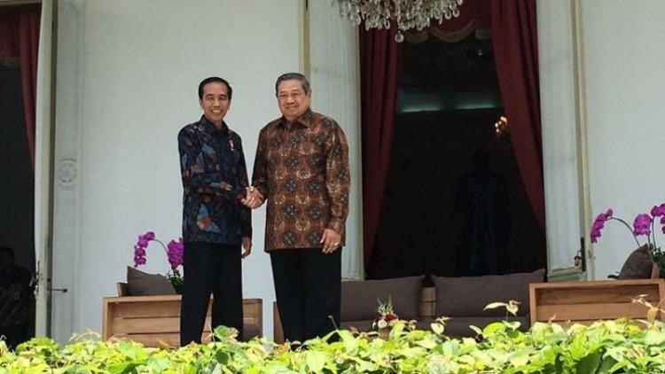 Pertemuan Jokowi dan SBY di Istana Merdeka