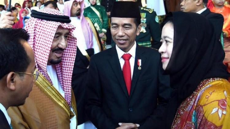 Raja Salman berbincang dengan Menko PMK Puan Maharani