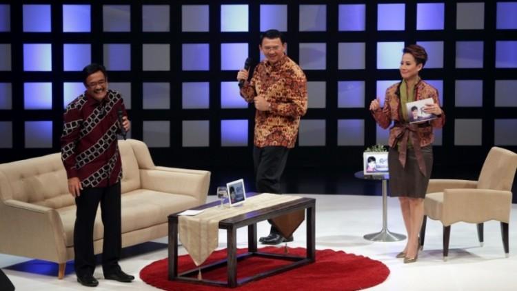 Ahok-Djarot di acara debat di program Rosi, Kompas TV