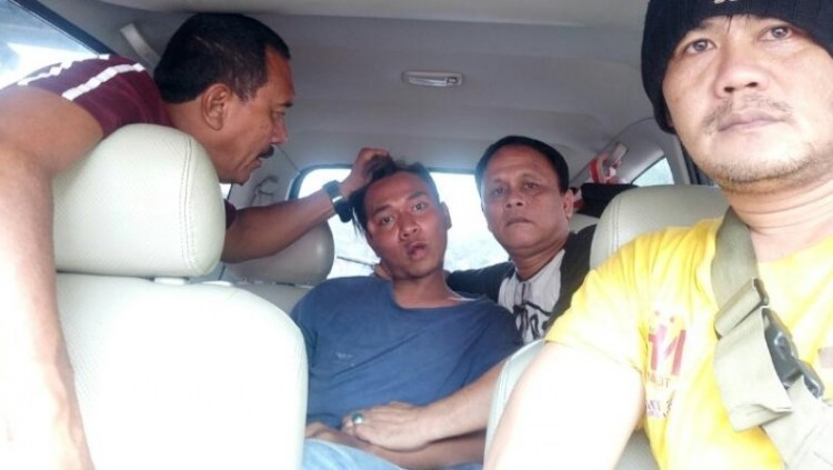 Andi Syaputra saat ditangkap polisi