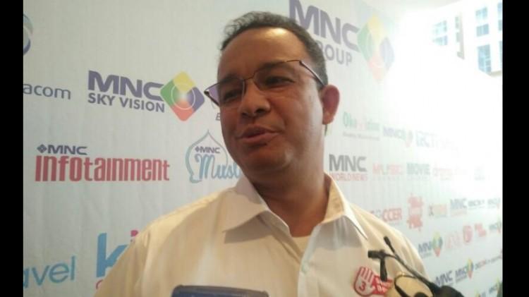 Anies Baswedan di Kebon Sirih, Jakarta Pusat