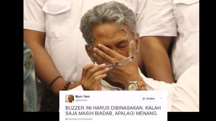 Buni Yani menyalahkan buzzer Ahok