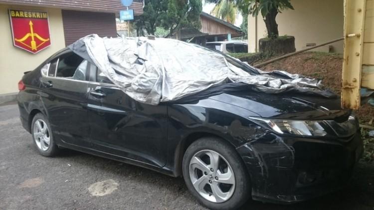 Honda City korban penembakan Brigadir K