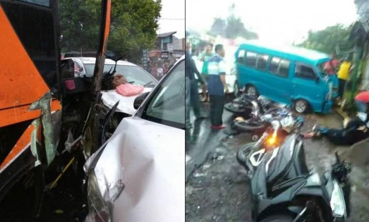 Kecelakaan maut di Tanjakan Selarong, Puncak, Bogor