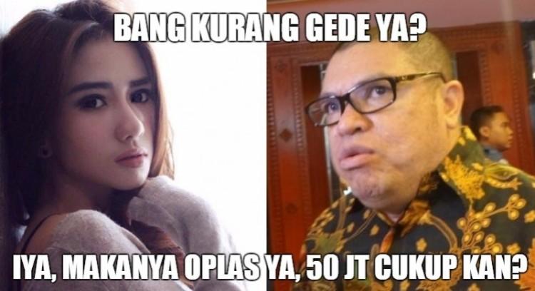 Meme Bella Luna dan Razman Nasution