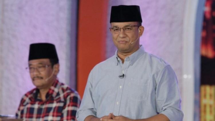 Penampilan Anies Baswedan saat debat final