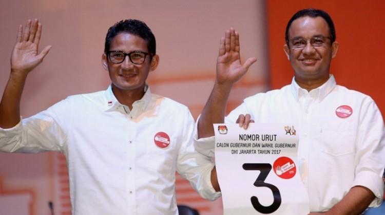 Sandiaga Uno dan Anies Baswedan