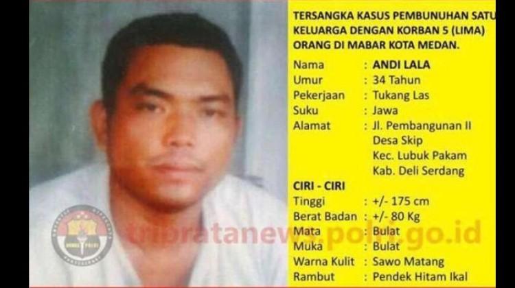 Tampang Andi Lala, DPO kasus pembunuhan Medan