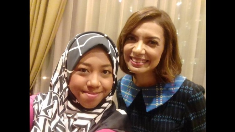 Afi Nihaya Faradisa dan Najwa Shihab