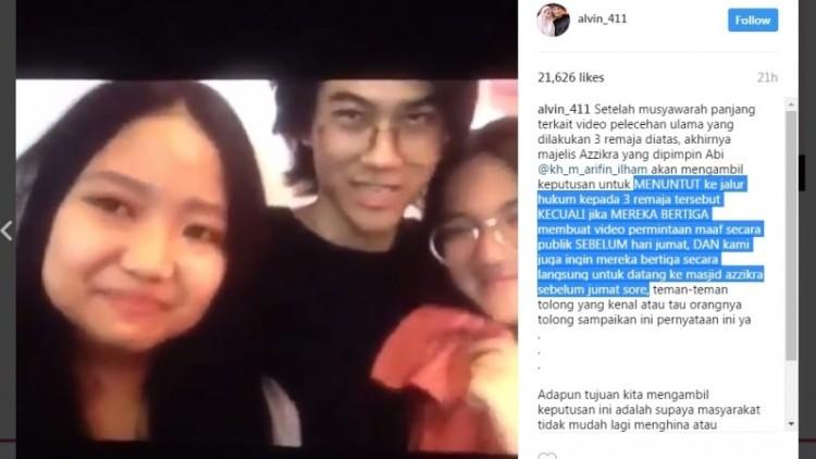 Alvin ancam remaja pembuat video parodi poligami