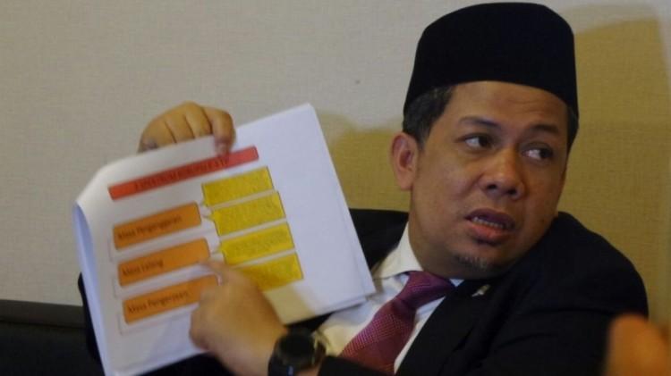 Fahri Hamzah di Kompleks Parlemen, Senayan