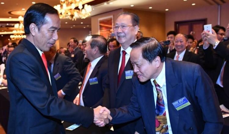 Jokowi bertemu investor Hong Kong