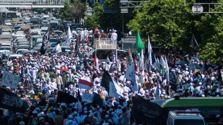 Massa GNPF MUI berjalan kaki ke PN Jakut
