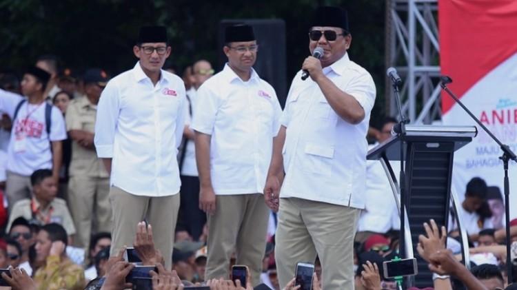 Prabowo saat berkampanye untuk Anies-Sandi