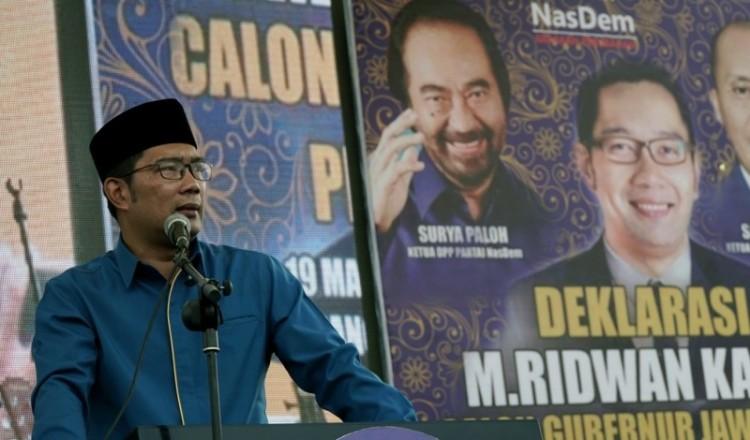 Ridwan Kamil dalam acara deklarasi NasDem