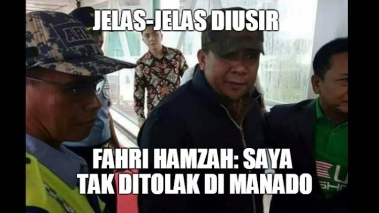 Tampang Fahri Hamzah saat diusir warga Manado