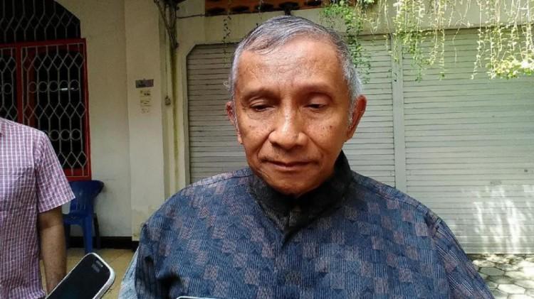 Amien Rais di rumahnya, kompleks Pandeansari, Depok, Sleman