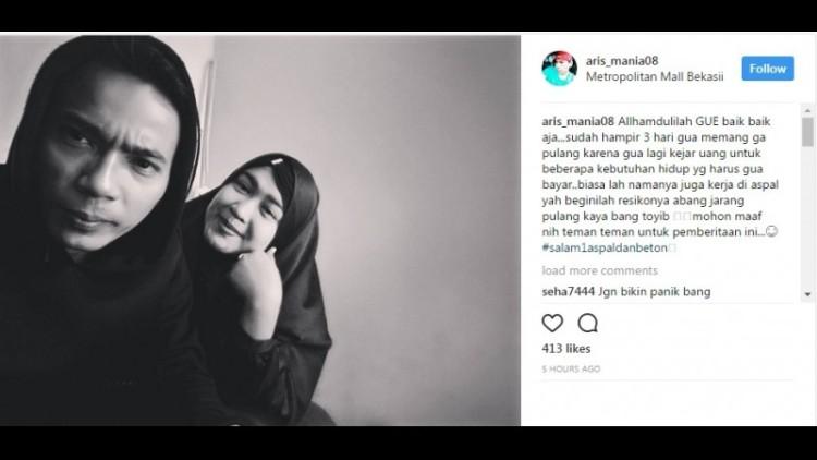 Aris eks Idol kembali setelah menghilang 3 hari